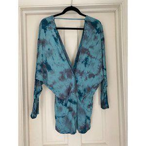 Young, Fabulous & Broke Blue Tie Dye Romper XS